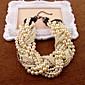 bijela imitacija bisera vještački dijamant ogrlice
