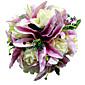 """Cvijeće za vjenčanje Krug Roses Buketi Vjenčanje Saten Crvena 11.02 """"(Approx.28cm)"""