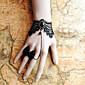 ručne crne čipke retro stilu klasična lolita narukvica s leptir prsten set