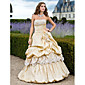 Promoce / Formální večer / Quinceanera / Sladkých 16 Šaty - Retro inspirované A-Linie / Plesové šaty / Princess Bez ramínek Na zem Taft s