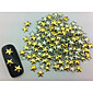 100pcs Star Punk Zlatna zakovice Nail Art dekoracije