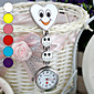 女性用 懐中時計 クォーツ 合金 バンド Heart Shape / キャンディ 白 / ブルー / レッド / ピンク / パープル / 黄色 ブランド-