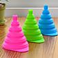 mini silikonski gel praktični sklopivi lijevak slatka sklopivi stil (slučajan odabir boje)