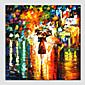 Ručno oslikana Apstraktni pejsažiModerna / Europska Style Jedna ploha Platno Hang oslikana uljanim bojama For Početna Dekoracija