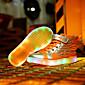 Za dječake Sneakers Proljeće Ljeto Jesen Zima Inovativne cipele Osvijetlite Shoes Koža Ležeran Ravna potpetica Kopčanje na kukicuCrna