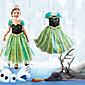 Cosplay Kostýmy Princeznovské / Pohádkové Filmové kostýmy Zelená Patchwork Šaty Halloween / Vánoce / Nový rok Dítě Bavlna / Šifón