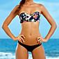 Ženski Bikini - Grudnjak na vezanje - Push-up - S cvjetnim printom - Poliester