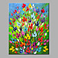 Oil Painting Modern Abstract Pure Hand Draw Frameless Decorative Flowers Oil Painting