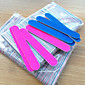 5ks skřípat profesionální vyrovnávací pilníky na nehty leštění tenký srpek štěrk na nehty nářadí pilník na nehty náhodnou barvu