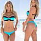 Ženski Bikini / Tankini - Bandeau grudnjak - Bez žice / Podstavljeni grudnjak - Jednobojni - Poliester