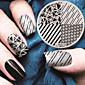 2016 nejnovější verzi módní geometrický vzor nail art ražení jako šablona desky
