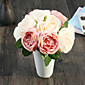 hedvábné růže umělé květiny svatební květiny 1ks / set