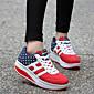 Ženske cipele-Sneakers-Atletika-Umjetna koža-Platforma-Tenisice platforme-Plava / Crvena