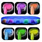 1セットネイルアート美しい夜光粉末カラフルな色の輝き輝くネイル美容装飾yg01-06