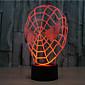 スパイダーマンタッチ調光3dは夜の光7カラフルl装飾雰囲気ランプノベルティ照明クリスマスライトLED