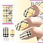 hot prodeje nail art přenosu dekorace voda nehty Nálepka na nehty obalí žluté kostkované designu nehet obtisky