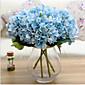 Set of 1 PCS 1 Podružnica Polyester Hortenzije Cvjeće za stol Umjetna Cvijeće 17*5.9