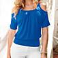 Majica s rukavima Žene,Jednostavno Ležerno/za svaki dan / Plus veličine Jednobojni-1/2 rukava Okrugli izrez-LjetoPlava / Crvena / Bijela