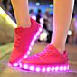 Tenisky-Tyl mikrovlákno-Pohodlné Light Up boty-Dámské-Zelená Červená Bílá-Běžné Party-Plochá podrážka