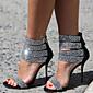 Žene Cipele na petu Proljeće Ljeto Jesen Ostalo Flis Formalne prilike Ležeran Zabava i večer Stiletto potpetica Štras Crna Srebrna
