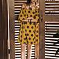 レディース セクシー ストリートファッション モダンシティ お出かけ ビーチ パーティー シース ドレス,幾何学模様 ストラップ 膝上 ノースリーブ その他 春 夏 ミッドライズ マイクロエラスティック ミディアム