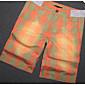 Pánské Jednoduchý Kraťasy Kalhoty Rovné Mid Rise Barevné bloky