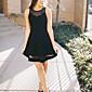 Dámské Sexy Jdeme ven Party/Koktejl Little Black Šaty Jednobarevné,Bez rukávů Kulatý Mini Polyester Léto Mid Rise Lehce elastické Střední